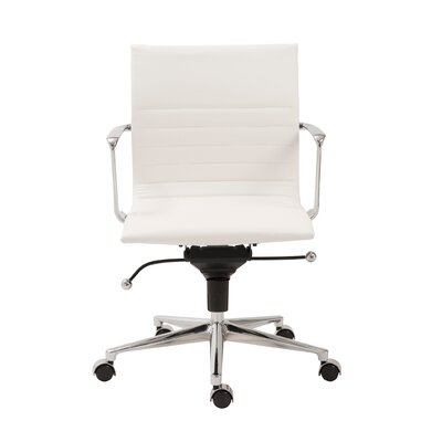 Keeter Metal Desk Chair Upholstery: White
