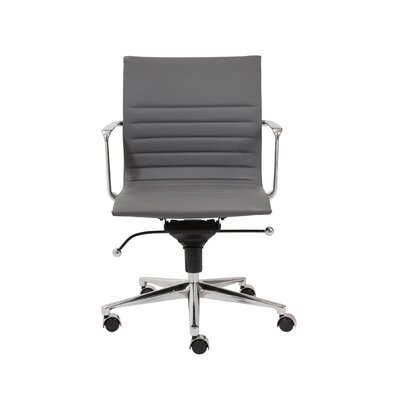 Keeter Metal Desk Chair Upholstery: Gray