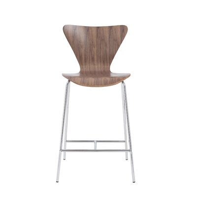 Yolanda 26 Bar Stool Upholstery: Walnut