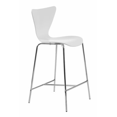 Yolanda 26 Bar Stool Upholstery: White