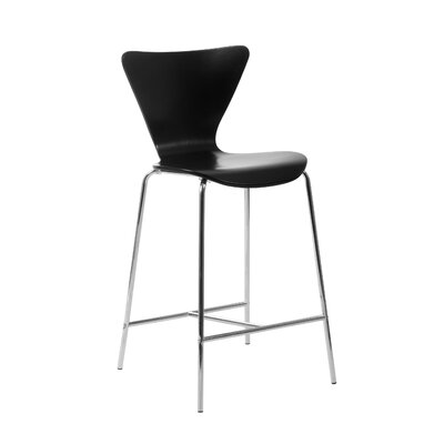 Yolanda 26 Bar Stool Upholstery: Black