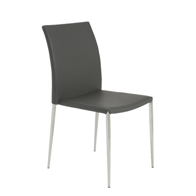 Aucoin Genuine Leather Upholstered Dining Chair