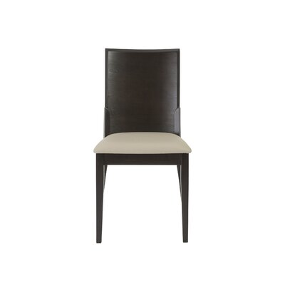 Mayela Genuine Leather Upholstered Dining Chair Upholstery Finish: Light Gray