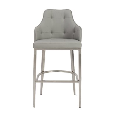 Aurianna 29.5 Bar Stool Upholstery: Gray