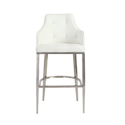Aurianna 29.5 Bar Stool Upholstery: White