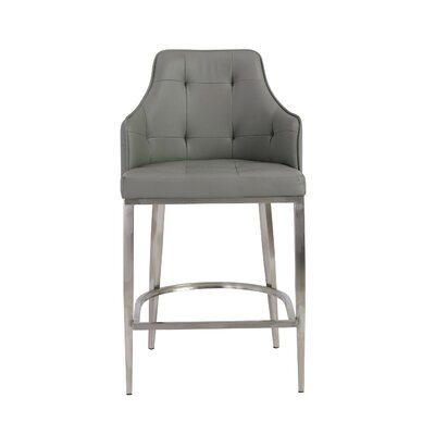 Aurianna Bar Stool Upholstery: Gray
