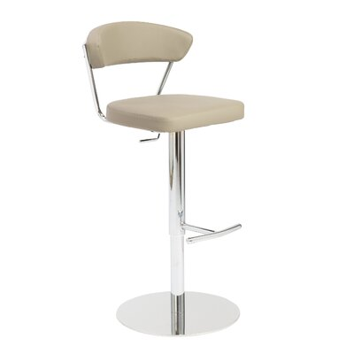 Viviana Adjustable Height Bar Stool Upholstery: Taupe