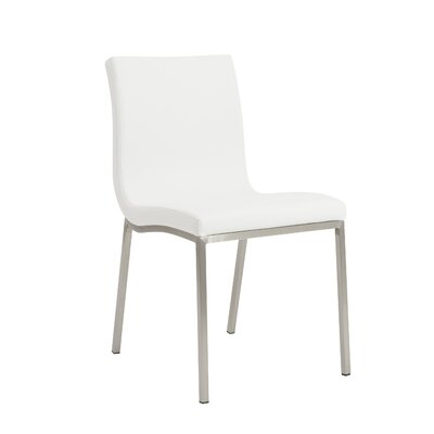 Jayla Side Chair Upholstery: White