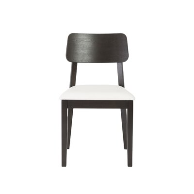 Maura Side Chair Upholstery: White