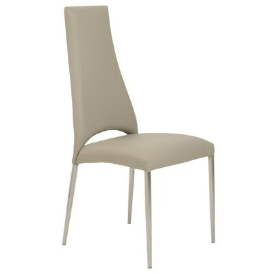 Maui Genuine Leather Upholstered Dining Chair Upholstery: Taupe