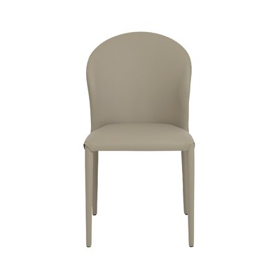 Bemott Genuine Leather Upholstered Dining Chair Upholstery: Taupe