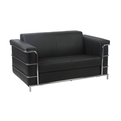 Aurand Leather Loveseat