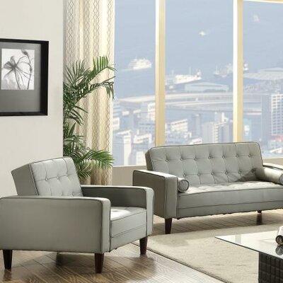 Derek Faux Leather Loveseat Upholstery: Gray