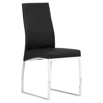 Bunce Side Chair Upholstery: Black