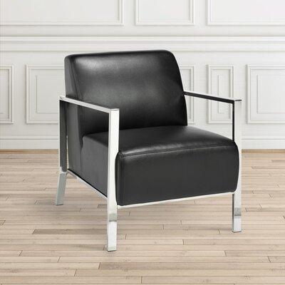 Evangeline Stainless Steel Frame Armchair Upholstery: Black