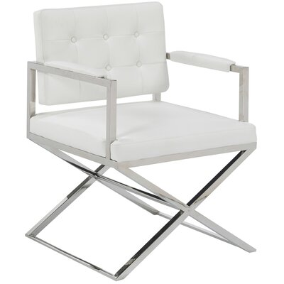 Christina Armchair Upholstery Color: White