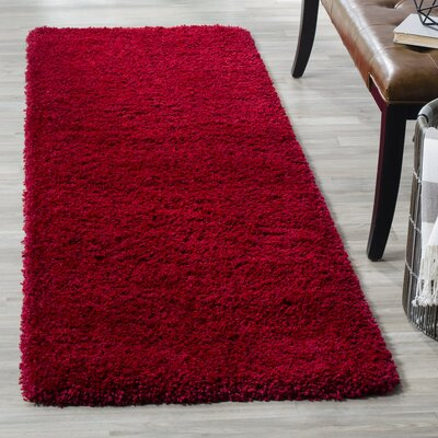 Rowen Red Area Rug Rug Size: Square 4