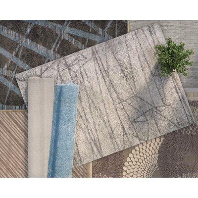 Ashton Gate Ice Blue/Light Sage Area Rug Rug Size: 92 x 125
