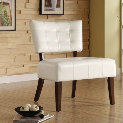 Wanless Vinyl Slipper Chair Color: White