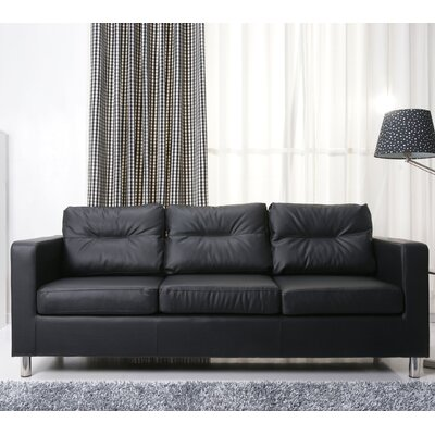 Clarence Sofa Upholstery: Black