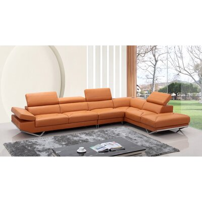 Corl Leather Sectional