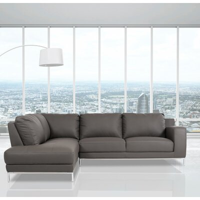 Alsatia Casa Primrose - Modern Eco-Leather Sectional Sofa Orientation: Left Facing