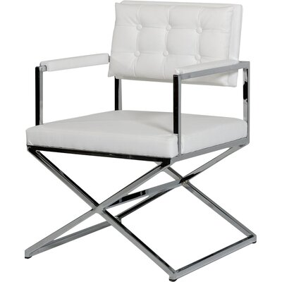 Gerardo Arm Chair Upholstery: White