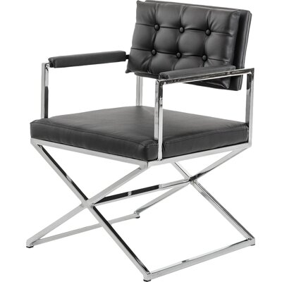 Gerardo Arm Chair Upholstery: Black
