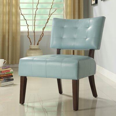 Wanless Vinyl Slipper Chair Color: Sky Blue
