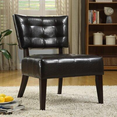 Wanless Vinyl Slipper Chair Color: Dark Brown