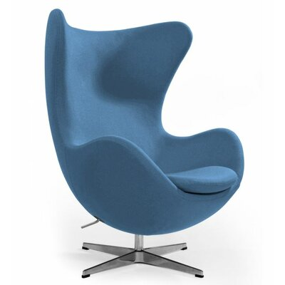 Alexia Arm Chair Upholstery: Wool Blue