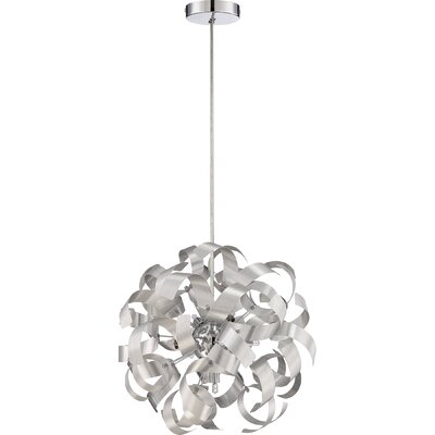 Sherrill 5-Light Geometric Pendant Finish: Millenia, Size: 17 x 17