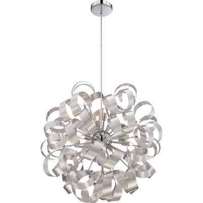 Jaelyn 5-Light Geometric Pendant Finish: Millenia, Size: 23 x 23