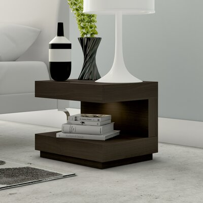 Gulfport 1 Drawer Nightstand Color: Brown Oak