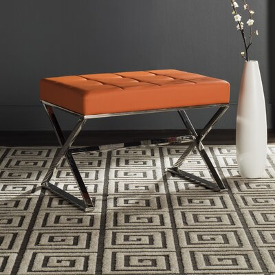 Cochran Ottoman Upholstery: Orange