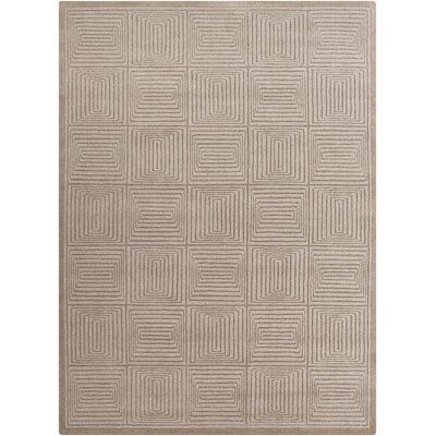 Brylee Taupe Area Rug Rug Size: Rectangle 33 x 53