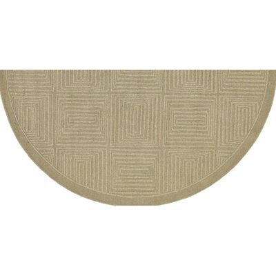 Brylee Taupe Area Rug Rug Size: Round 79