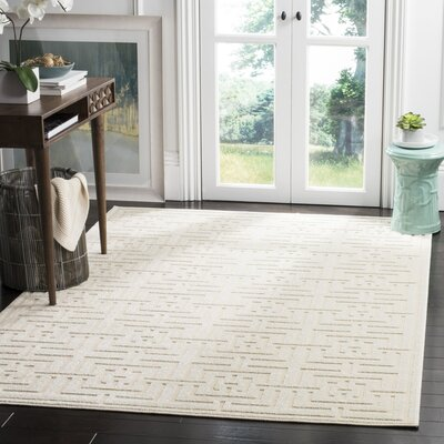 Cruz Creme Outdoor Area Rug Rug Size: 53 x 77