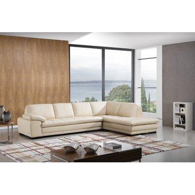 Stockbridge Sectional Upholstery: Beige, Orientation: Right Hand Facing