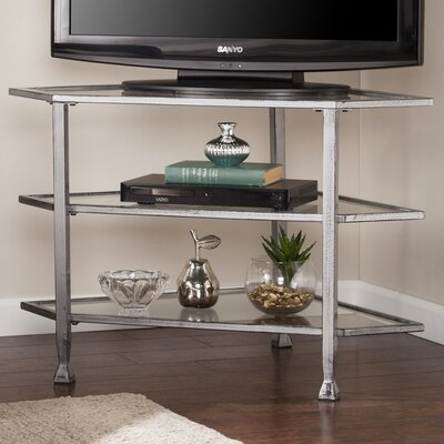 Charney Corner 35 TV Stand Color: Distressed Silver