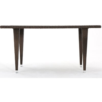 Bryanna Outdoor Rectangle Wicker Dining Table