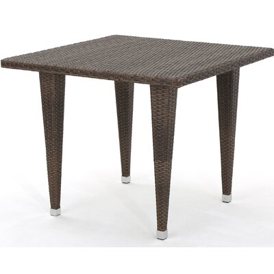 Bryanna Outdoor Square Wicker Dining Table