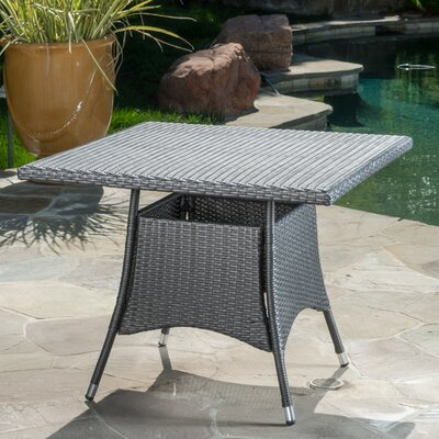 Moonya Wicker Square Bistro Table