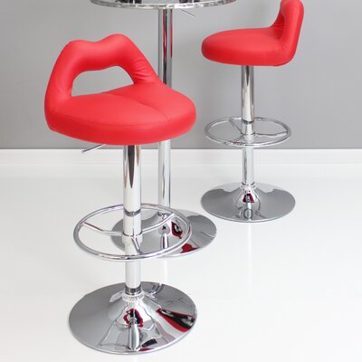 Kien Adjustable Height Swivel Bar Stool