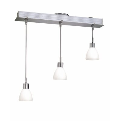 Shireen 3-Light Cascade Kitchen Island Pendant Finish: White