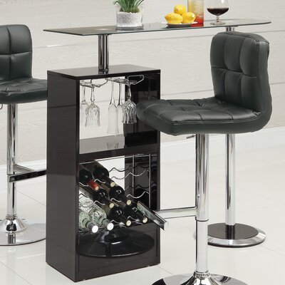 Rihanna Versatile Pub Table Finish: Black