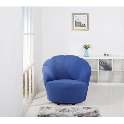 Giovanna Swivel Barrel Chair Upholstery: Blueberry