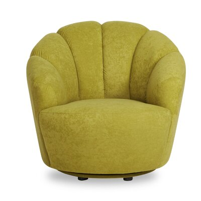 Giovanna Swivel Barrel Chair Upholstery: Light Green