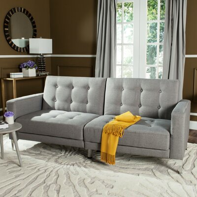 Jayde Foldable Sleeper Sofa Upholstery: Grey