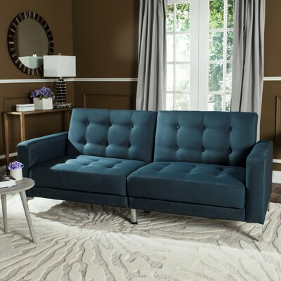 Jayde Foldable Sleeper Sofa Upholstery: Navy
